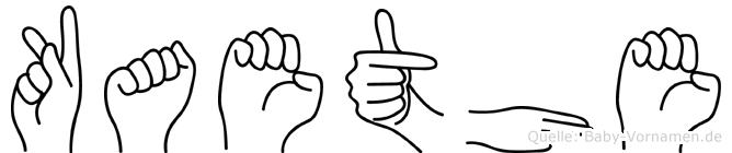 Kaethe in Fingersprache für Gehörlose