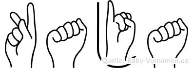 Kaja in Fingersprache für Gehörlose