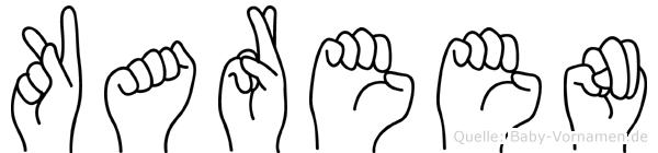 Kareen in Fingersprache für Gehörlose