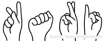 Kari im Fingeralphabet der Deutschen Gebärdensprache