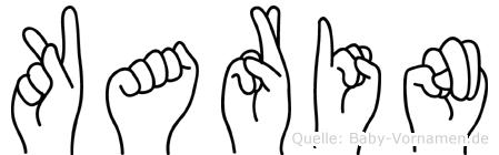 Karin in Fingersprache für Gehörlose
