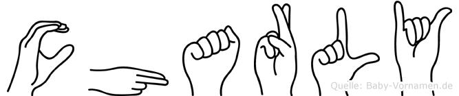 Charly im Fingeralphabet der Deutschen Gebärdensprache