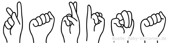 Karina in Fingersprache für Gehörlose