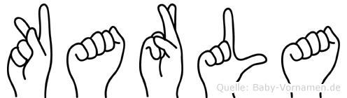 Karla in Fingersprache für Gehörlose