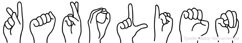 Karolien im Fingeralphabet der Deutschen Gebärdensprache
