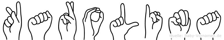 Karolina in Fingersprache für Gehörlose