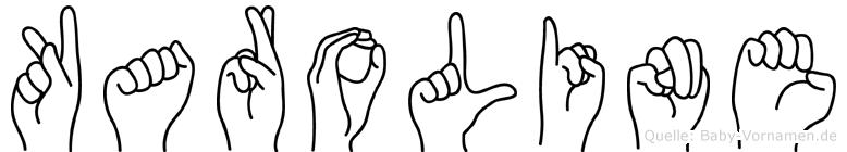 Karoline in Fingersprache für Gehörlose