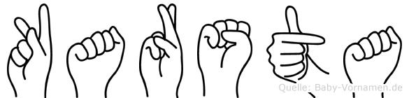Karsta in Fingersprache für Gehörlose