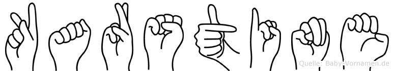 Karstine im Fingeralphabet der Deutschen Gebärdensprache