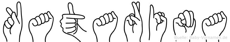 Katarina in Fingersprache für Gehörlose