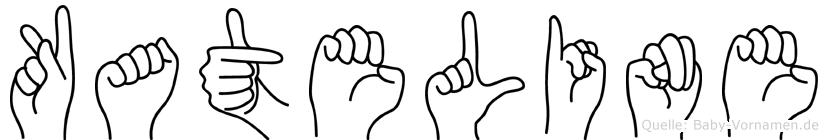 Kateline im Fingeralphabet der Deutschen Gebärdensprache