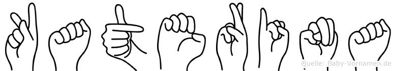 Katerina im Fingeralphabet der Deutschen Gebärdensprache