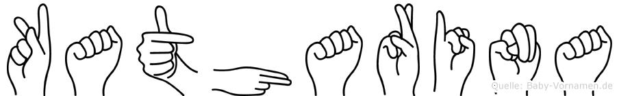 Katharina im Fingeralphabet der Deutschen Gebärdensprache