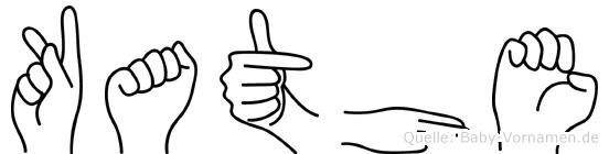 Kathe im Fingeralphabet der Deutschen Gebärdensprache