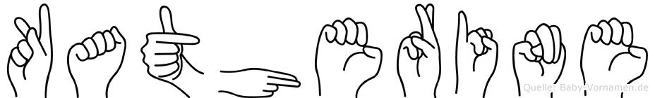 Katherine im Fingeralphabet der Deutschen Gebärdensprache