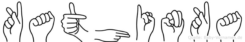 Kathinka im Fingeralphabet der Deutschen Gebärdensprache