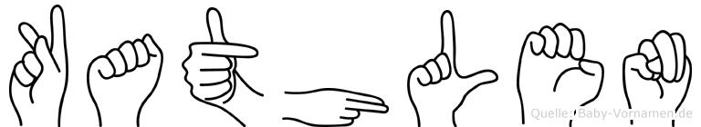 Kathlen im Fingeralphabet der Deutschen Gebärdensprache