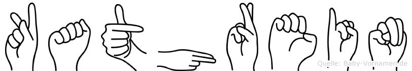 Kathrein im Fingeralphabet der Deutschen Gebärdensprache