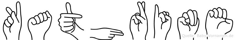 Kathrine im Fingeralphabet der Deutschen Gebärdensprache