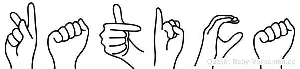 Katica im Fingeralphabet der Deutschen Gebärdensprache