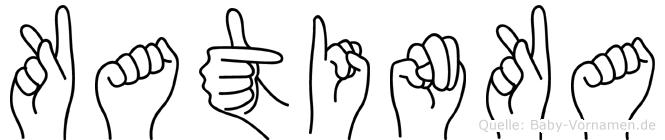 Katinka in Fingersprache für Gehörlose