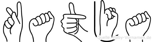 Katja in Fingersprache für Gehörlose