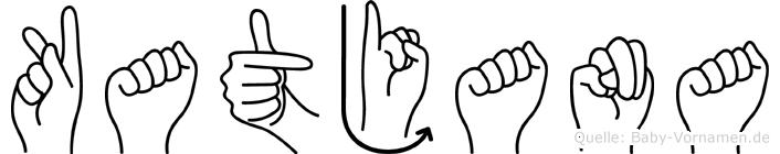 Katjana im Fingeralphabet der Deutschen Gebärdensprache