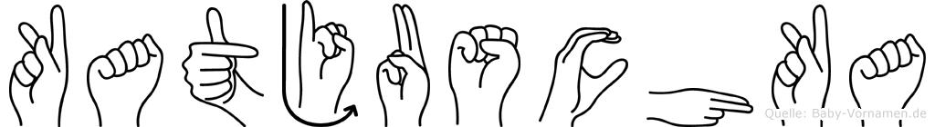 Katjuschka im Fingeralphabet der Deutschen Gebärdensprache