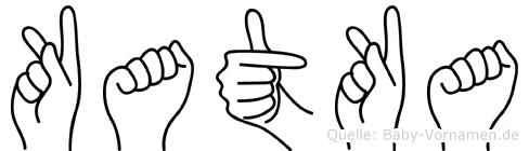 Katka im Fingeralphabet der Deutschen Gebärdensprache