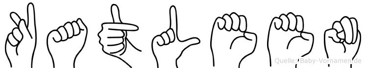 Katleen in Fingersprache für Gehörlose