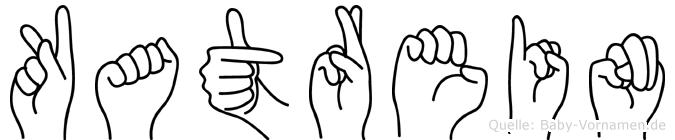 Katrein im Fingeralphabet der Deutschen Gebärdensprache