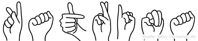 Katrina im Fingeralphabet der Deutschen Gebärdensprache