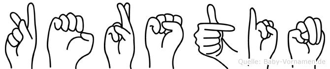 Kerstin in Fingersprache für Gehörlose