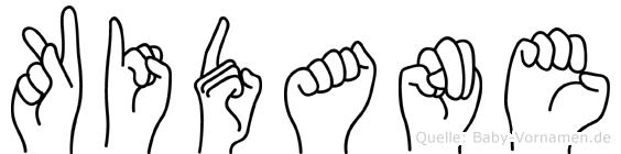Kidane im Fingeralphabet der Deutschen Gebärdensprache