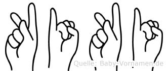 Kiki im Fingeralphabet der Deutschen Gebärdensprache