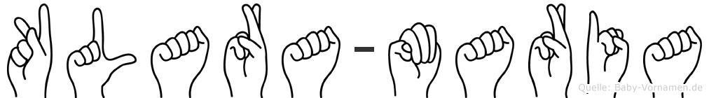 Klara-Maria im Fingeralphabet der Deutschen Gebärdensprache