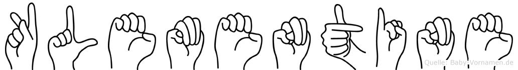Klementine im Fingeralphabet der Deutschen Gebärdensprache