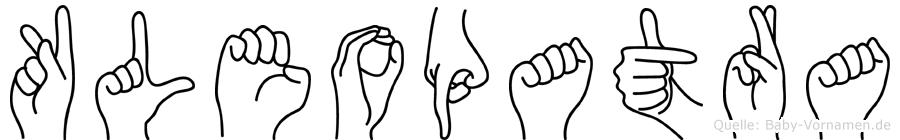Kleopatra in Fingersprache für Gehörlose