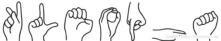 Kleopha im Fingeralphabet der Deutschen Gebärdensprache