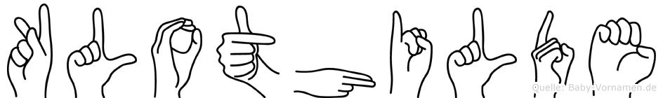 Klothilde in Fingersprache für Gehörlose