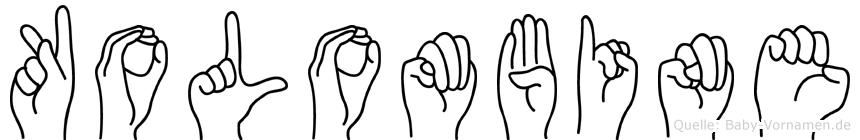 Kolombine im Fingeralphabet der Deutschen Gebärdensprache