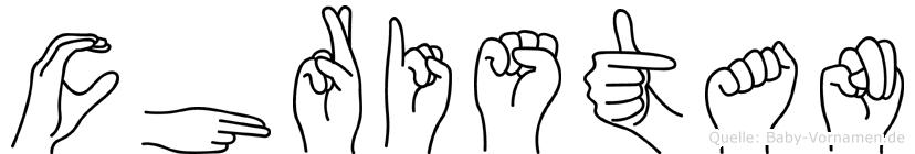 Christan in Fingersprache für Gehörlose