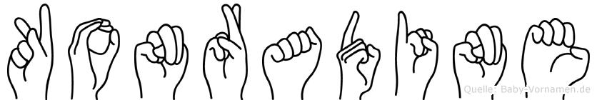 Konradine in Fingersprache für Gehörlose
