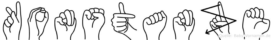 Konstanze in Fingersprache für Gehörlose
