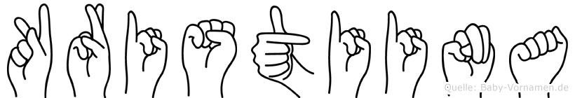 Kristiina in Fingersprache für Gehörlose