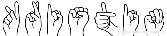 Kristin in Fingersprache für Gehörlose