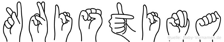 Kristina in Fingersprache für Gehörlose