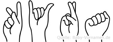 Kyra in Fingersprache für Gehörlose