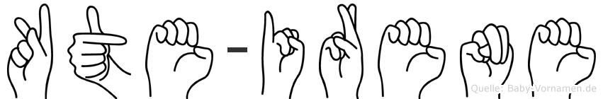 Käte-Irene im Fingeralphabet der Deutschen Gebärdensprache