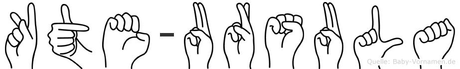 Käte-Ursula im Fingeralphabet der Deutschen Gebärdensprache
